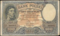 Билет 100 злотых 1919 (1924) г.
