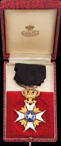 <b><i>Швеция. </i></b>Знак офицера ордена Полярной Звезды