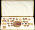 Коллекция из 30 значков и памятной медали участника соревнований «Дружба-84»