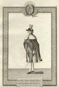 Гравюра «Орденское одеяние Секретаря Ордена Святой Великомученицы Екатерины»