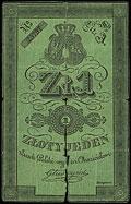 Денежный знак Польского восстания. 1 злотый 1831 г.