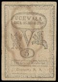 Польша. Восстание Костюшко. Дирекция казначейских билетов. 5 грошей 1794 г.