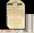 Второй 5% Российский бессрочный Заем 1822 г. Облигация 6 720 рублей