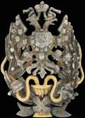 Фрачный знак военных врачей, удостоенных ученой степени Доктора (в Императорской Медико-хирургической Академии и Российских Университетах)