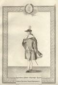 Гравюра «Орденское одеяние Секретаря Ордена Святого Апостола Андрея Первозванного»