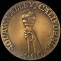 Памятная медаль участника VIII Зимних Олимпийских игр в Скво-Вэлли