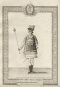 Гравюра «Орденское одеяние Герольда Ордена Святой Великомученицы Екатерины»