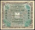 Советская зона оккупации Германии 1945-1948 гг. (Советская военная администрация в Германии). ½ марки 1944 г.