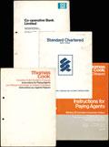 Лот из пяти брошюр с образцами дорожных чеков: