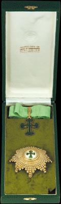 Комплект Гранд-офицера ордена Святого Бенедикта Ависского: