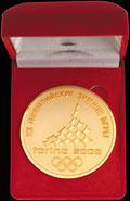 Памятная медаль олимпийской команды России на XX Зимних Олимпийских игр в Турине