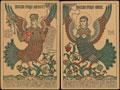 Лот из двух почтовых карточек «Райские птицы»: