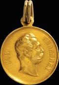 «В память 50-летия назначения Его Величества Государя Императора шефом королевского Прусского уланского полка»