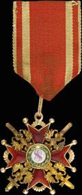 Знак ордена Святого Станислава III степени с мечами