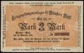 Мюнстер. Лагерь военнопленных Первой мировой войны. Денежный бланк 2 марки 1916 г.