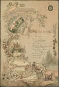 Меню торжественного обеда, данного 5 апреля 1897 г. в честь 100-летнего юбилея Ведомства Уделов