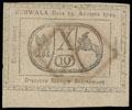 Польша. Восстание Костюшко. Дирекция казначейских билетов. 10 грошей 1794 г.