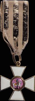 Знак военного ордена Святого великомученика и Победоносца Георгия IV степени