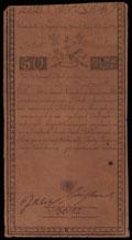 Польша. Восстание Костюшко. Дирекция казначейских билетов. 50 злотых 1794 г.
