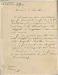 Письмо Сенатору Иосифу Моравскому о награждении его знаками ордена Святого Александра Невского с бриллиантами