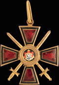 Знак ордена равноапостольного князя Владимира IV степени с мечами