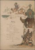 Меню обеда 3 июня 1884 г. в честь бракосочетания Великого князя Сергея Александровича с принцессой Елизаветой Гессенской (Великой княгиней Елизаветой Федоровной) в Санкт-Петербурге