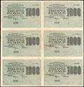Расчетный знак РСФСР 1 000 рублей 1919 г.