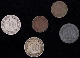 Германия. Лот из монет 1875-1935 гг. 5 шт.
