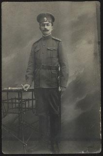 Фотография офицера. Почтовая карточка