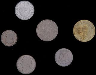 Лот из иностранных монет 1986-2013 гг. 6  шт.