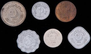 Пакистан. Лот из монет 1976-2006 гг. 6 шт.