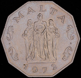 Мальта. 50 центов 1972 г. Медно-никелевый сплав