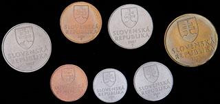 Словения. Лот из монет 2001-2007 гг. 7 шт.