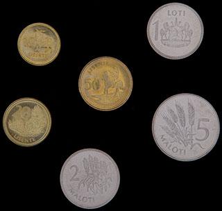 Лесото. Лот из монет 1998 г. 6 шт.