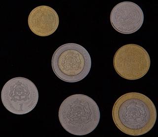 Марокко. Лот из монет 2002 г. 7 шт.