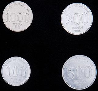 Индонезия. Лот из монет 2016 г. 4 шт.