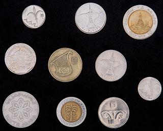 Лот из иностранных монет ХХ в. 10 шт.
