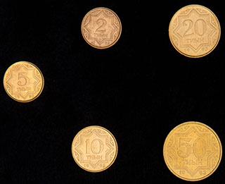 Казахстан. Лот из монет 1993 г. 5 шт.