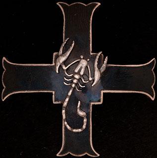 Польша. Знак 5-й танковой бригады «Скорпион». II половина ХХ в. Металл белого цвета, эмаль