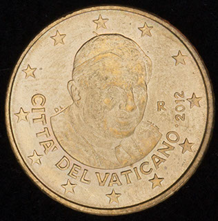 Ватикан. 50 евроцентов 2012 г. Латунь