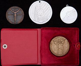 Лот из медалей на спортивную тематику. 4 шт.