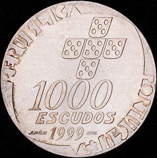 Португалия. 1 000 эскудо 1999 г. «25 лет Революции 25 апреля». Серебро