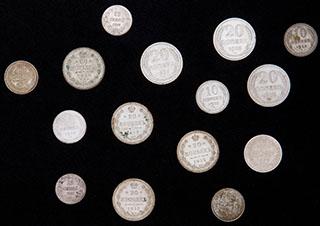 Лот из монет 1908-1928 гг. 15 шт.