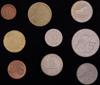 Лот из иностранных монет 1939-2014 гг. 9 шт.