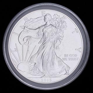 США. 1 доллар 2015 г. «Шагающая Свобода». Серебро