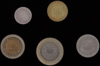 Колумбия. Лот из монет 2012-2013 гг. 5 шт.