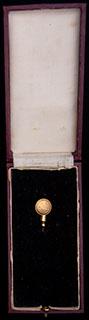 Бельгия. Фрачник масонской ложи. Металл желтого цвета