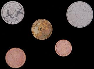 Свазиленд. Лот из монет 2011 г. 5 шт.