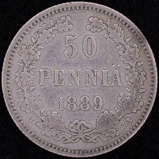 50 пенни 1889 г. L. Серебро