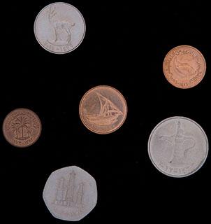 ОАЭ. Лот из монет 1983-2012 гг. 6 шт.